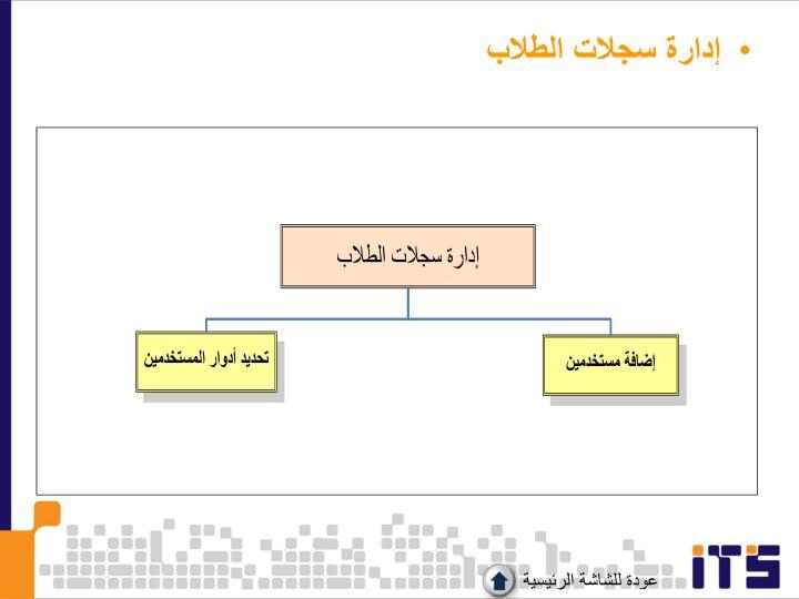 إدارة سجلات الطلاب
