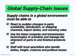 global supply chain issues