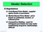 vendor selection1