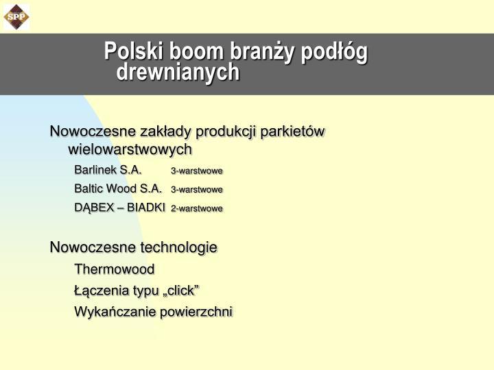 Polski boom branży podłóg drewnianych