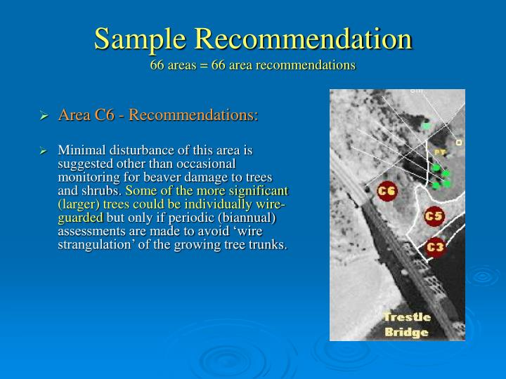 Sample Recommendation