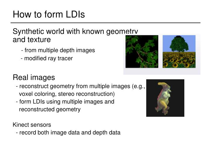 How to form LDIs