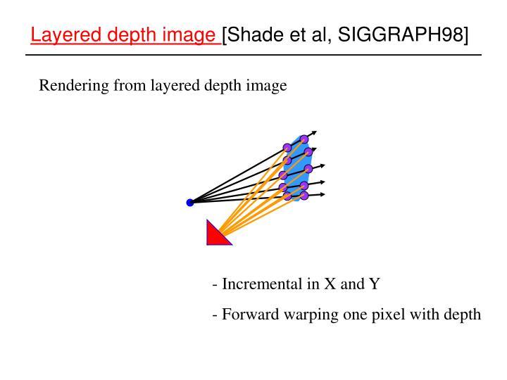 Layered depth image