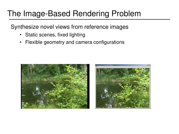 The Image-Based Rendering Problem