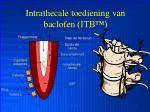 intrathecale toediening van baclofen