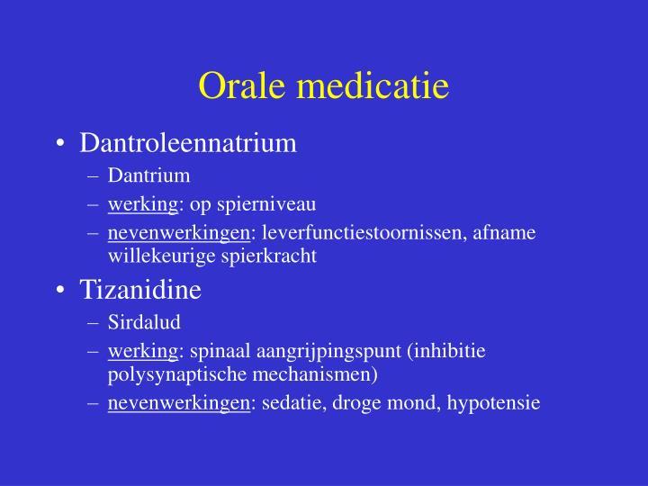 Orale medicatie