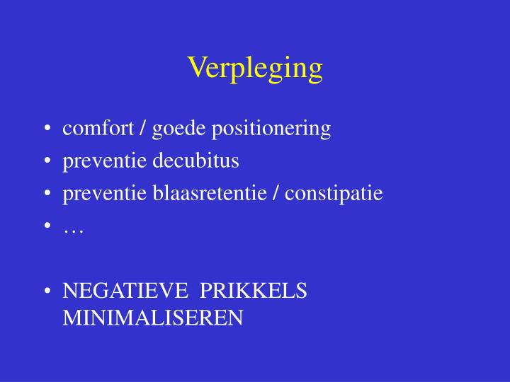 Verpleging