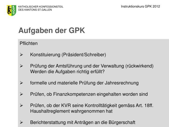 Instruktionskurs GPK