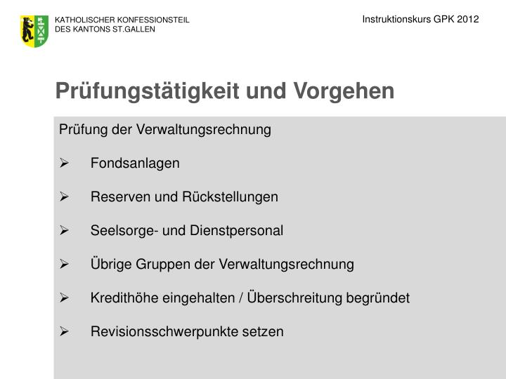 Instruktionskurs GPK 2012