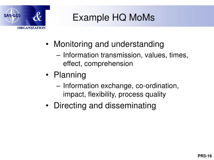 Example HQ MoMs