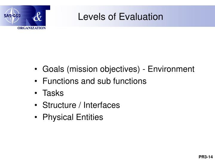 Levels of Evaluation