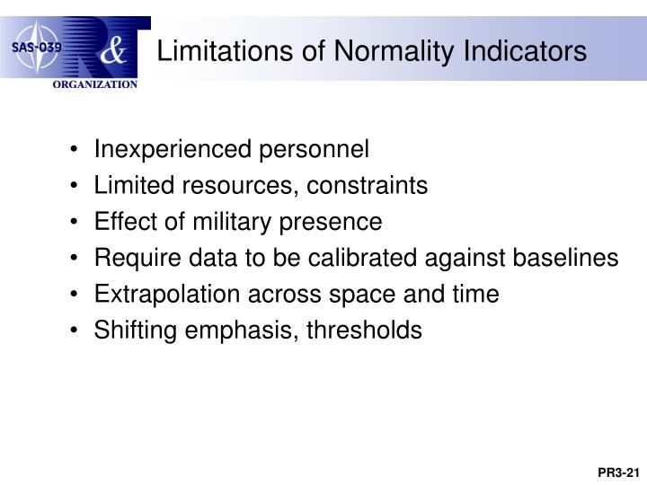 Limitations of Normality Indicators