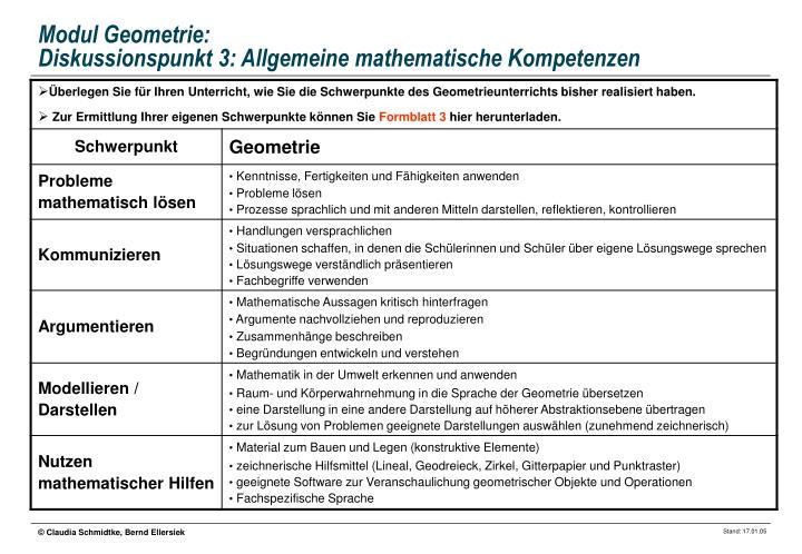 Modul Geometrie: