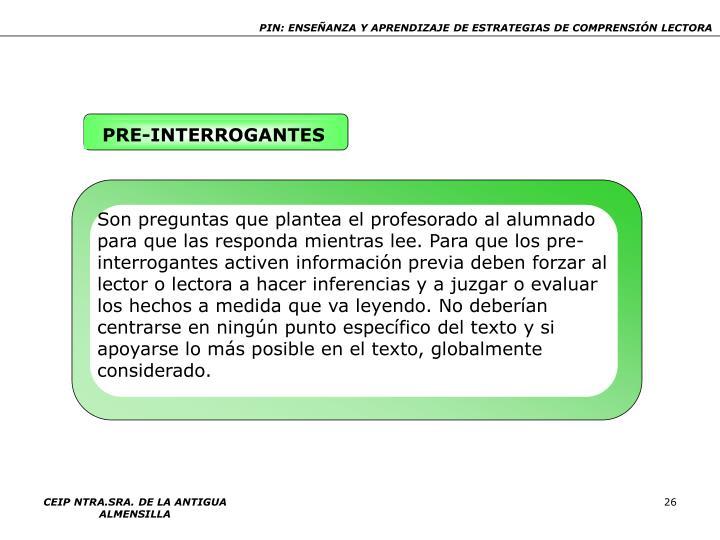 PRE-INTERROGANTES