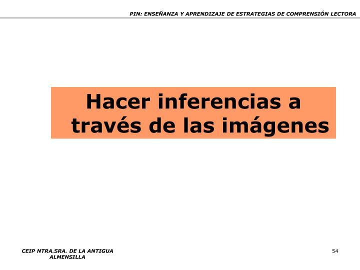 Hacer inferencias a través de las imágenes