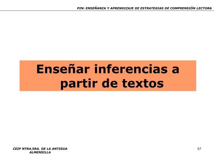 Enseñar inferencias a partir de textos