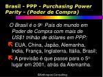 brasil ppp purchasing power parity poder de compra