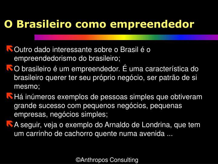 O Brasileiro como empreendedor
