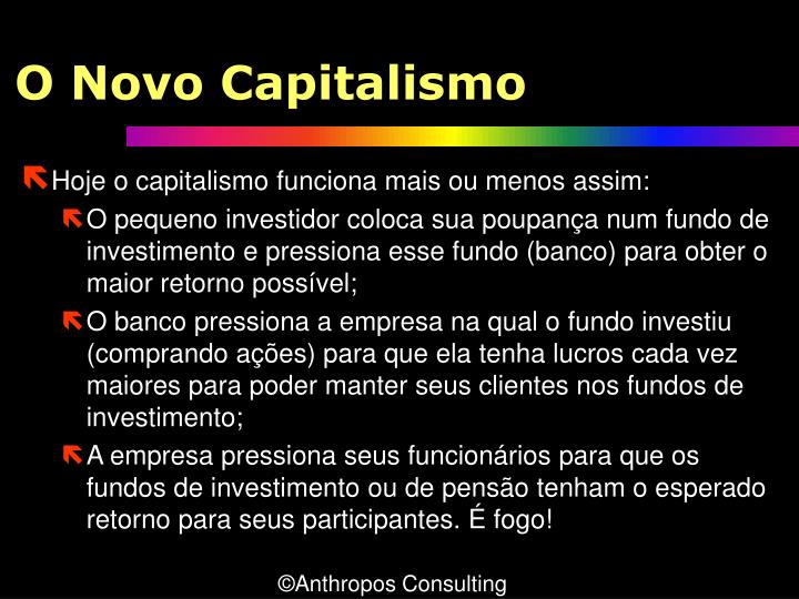 O Novo Capitalismo