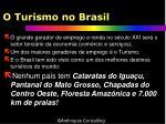 o turismo no brasil
