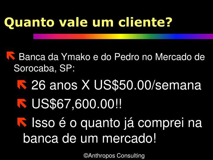 Quanto vale um cliente?