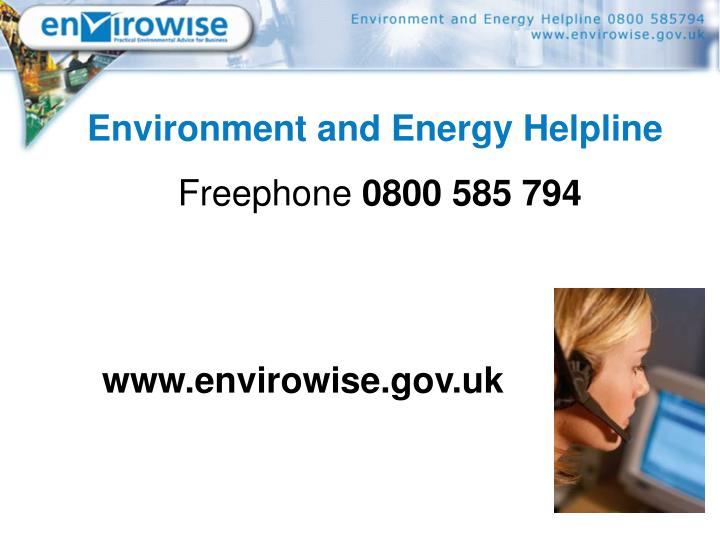 Environment and Energy Helpline
