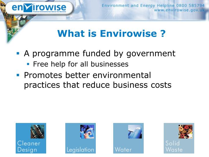 What is envirowise