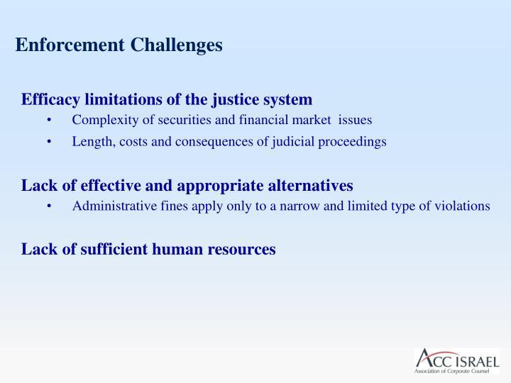 Enforcement Challenges