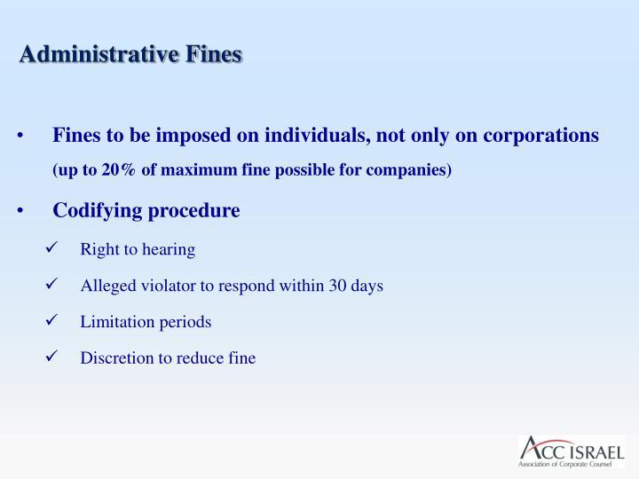 Administrative Fines