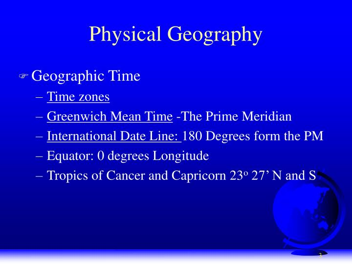 Physical geography1