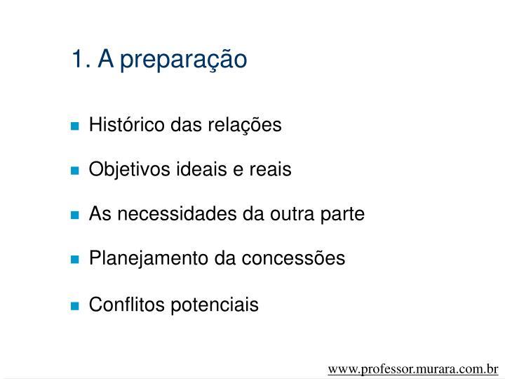 1. A preparação