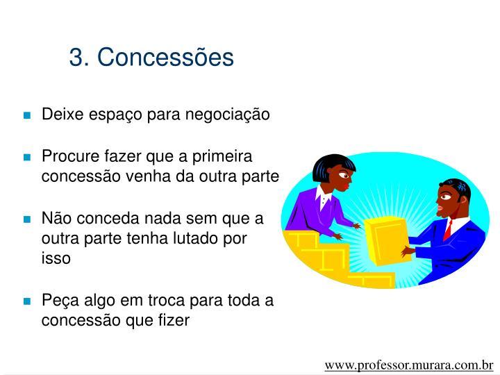 3. Concessões