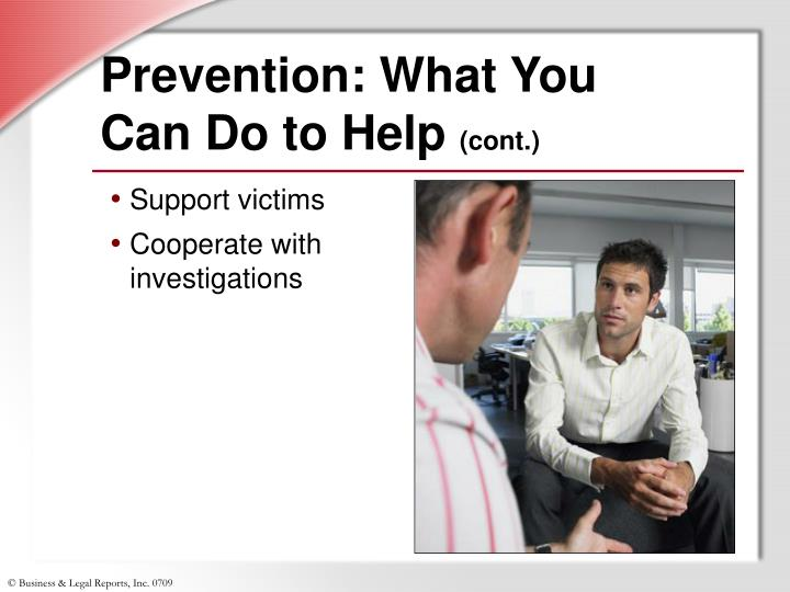 Prevention: What You