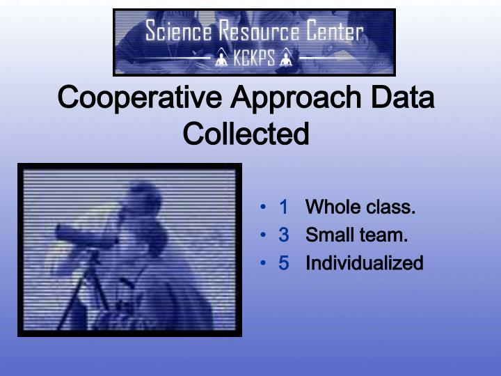 Cooperative Approach Data Collected