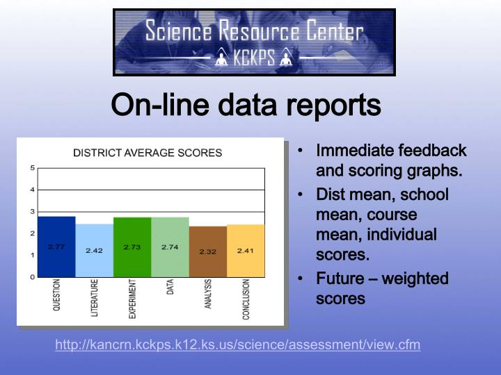 On-line data reports
