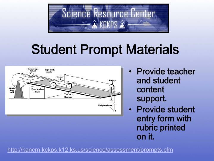 Student Prompt Materials
