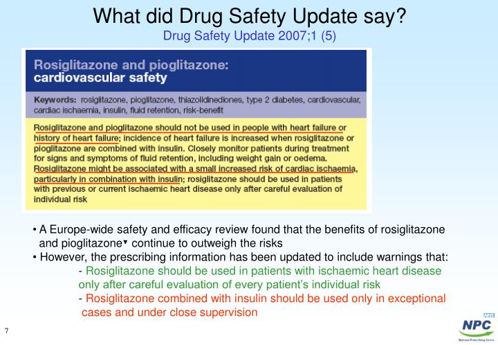 What did Drug Safety Update say?