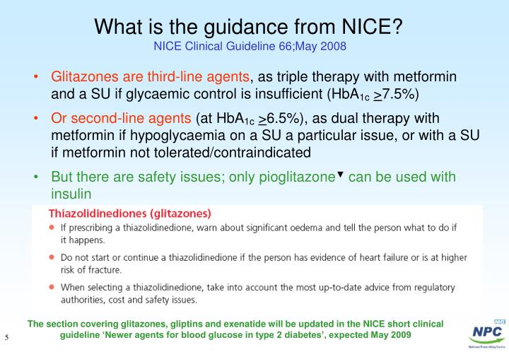 What is the guidance from NICE?