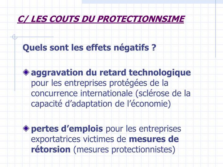 C/ LES COUTS DU PROTECTIONNSIME