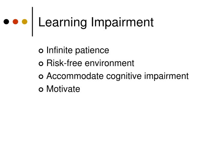 Learning Impairment