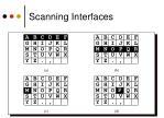 scanning interfaces