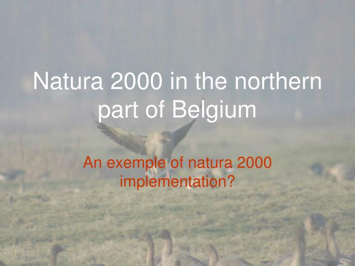 natura 2000 in the northern part of belgium