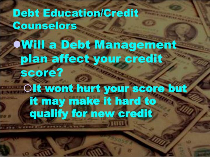 Debt Education/Credit Counselors