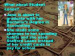 what about student loans