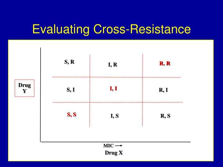 Evaluating Cross-Resistance