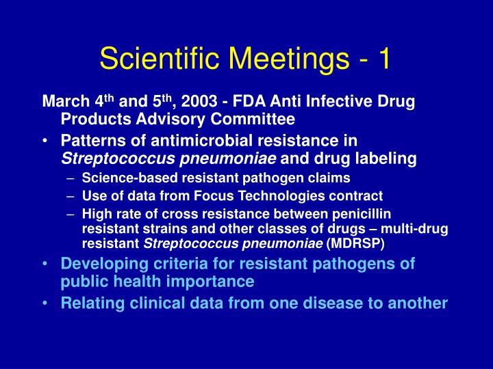 Scientific Meetings - 1