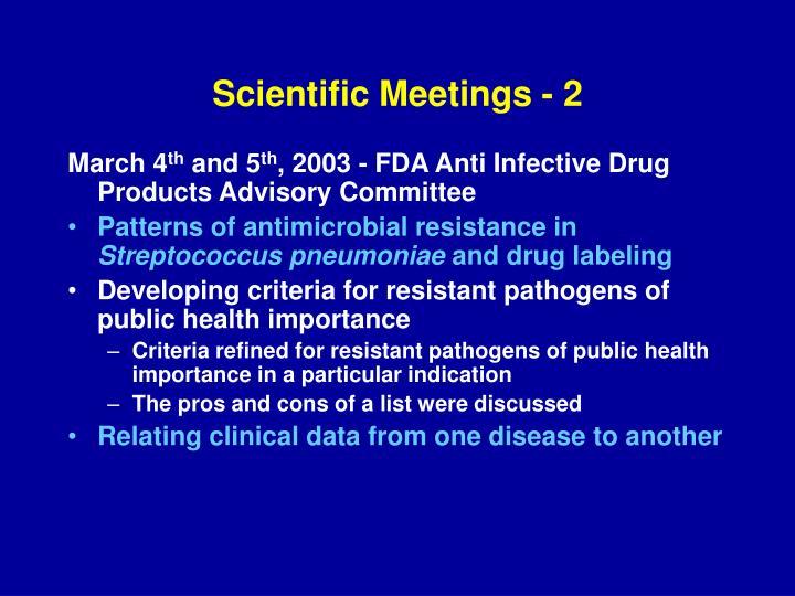 Scientific Meetings - 2