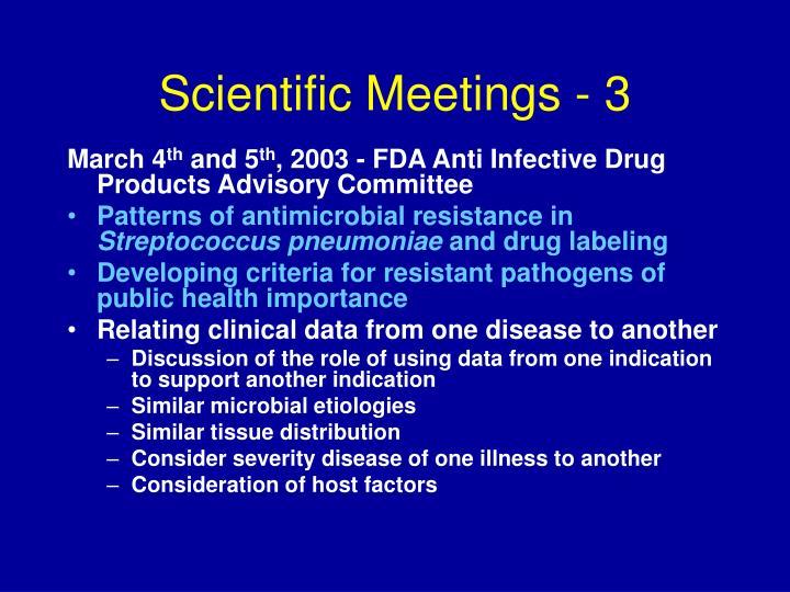 Scientific Meetings - 3