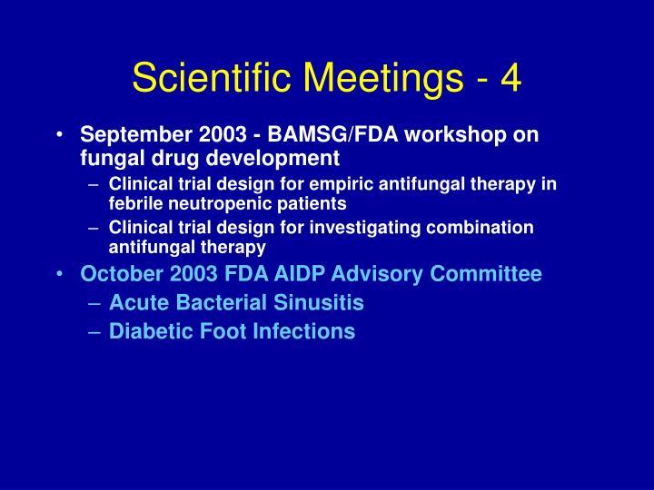 Scientific Meetings - 4