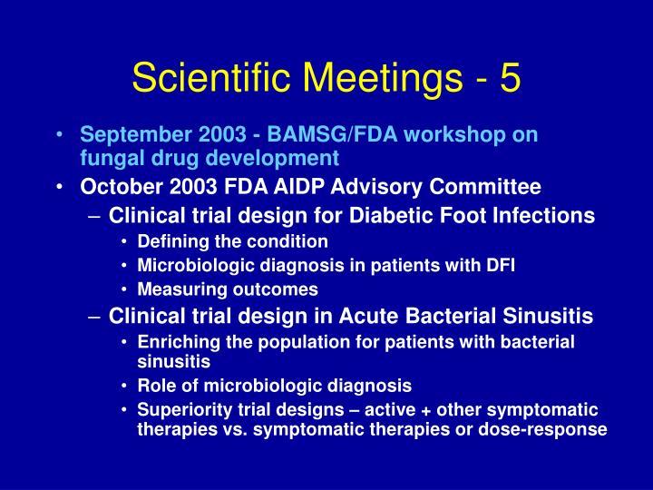 Scientific Meetings - 5